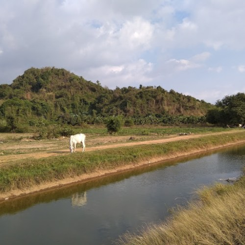 Paesaggio naturalistico di Kampot in Cambogia