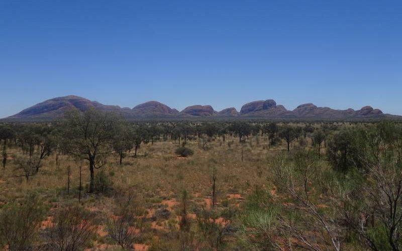 Punto d'osservazione su Kata Tjuta, nel Parco Nazionale Uluru-Kata Tjuta