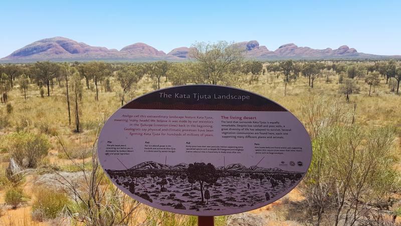 Kata Kata Tjuta vista dal punto panoramico Dune Viewing in Australia