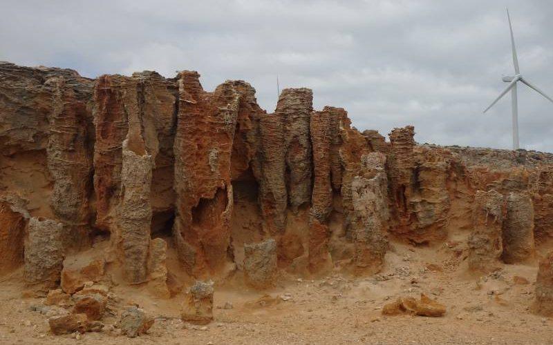 """La foresta pietrificata """"Petrified Forest"""" a Cape Bridgewater in Australia"""