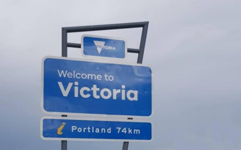 Cartello di confine tra il South Australia ed il Victoria