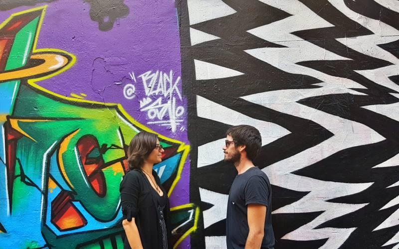 Foto ricordo nella Street Art di Melbourne