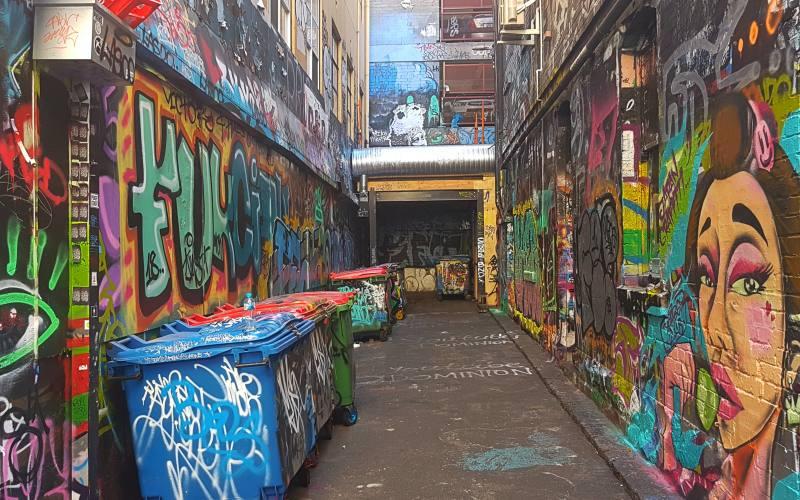 La Street Art di Hozier Lane a Melbourne in Australia
