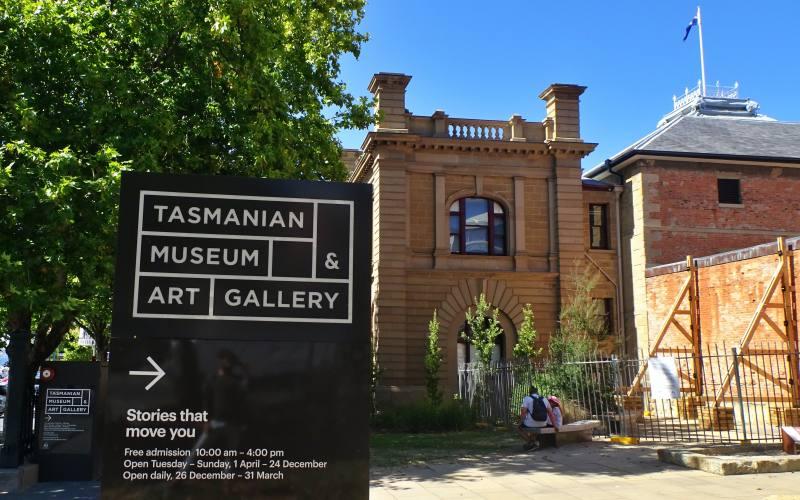 """Ingresso del museo """"Tasmanian Museum & Art Gallery"""" di Hobart in Tasmania"""