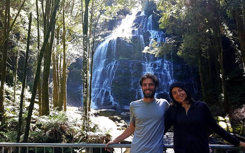 """Piattaforma panoramica per le cascate """"Nelson Falls"""" in Tasmania"""