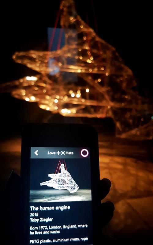 Audioguida su App dentro il museo MONA in Tasmania