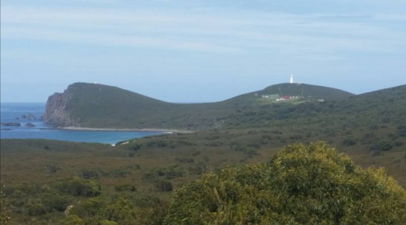 """Punto panoramico sul faro """"Cape Bruny Lighthouse"""" sull'isola di Bruny Island"""
