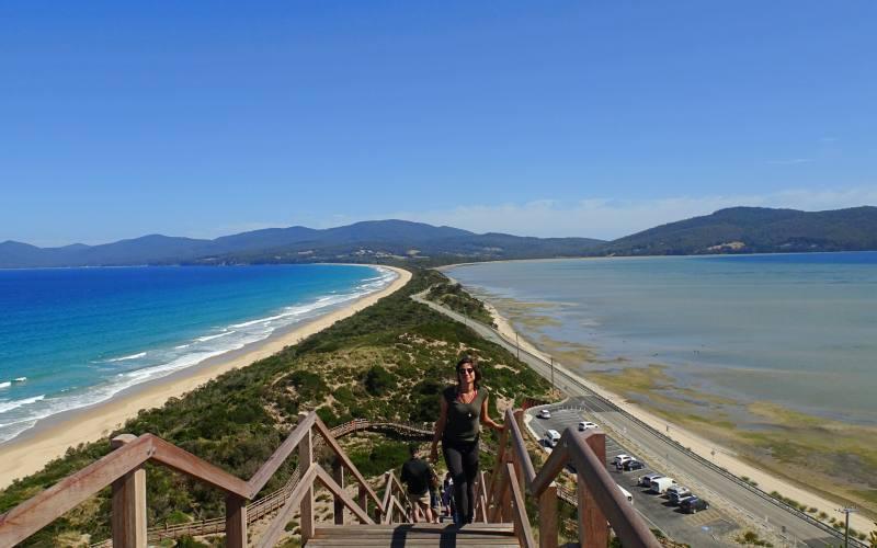 "Vista dal punto panoramico ""The Neck Lookout"" (Truganini Lookout) sull'isola di Bruny Island"