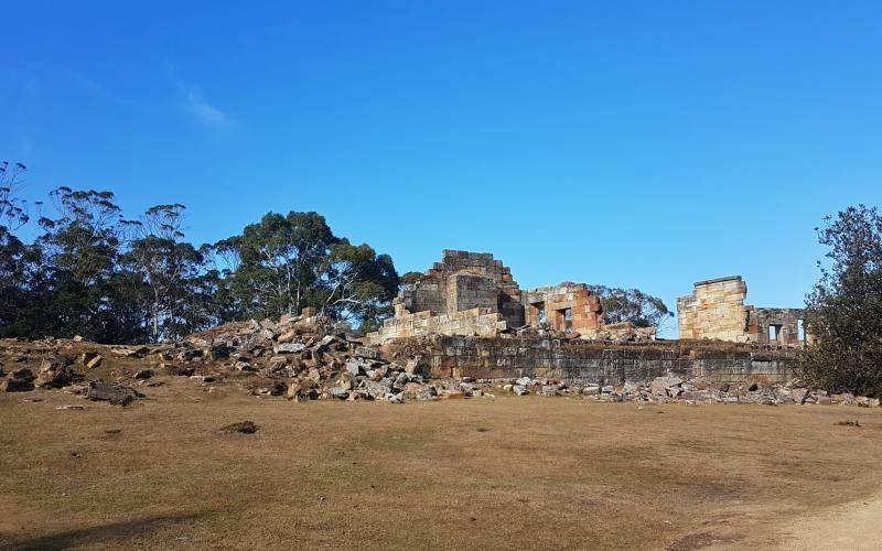 Rovine dell'ex miniera di carbone nella colonia penale della Tasman Peninsula in Tasmania