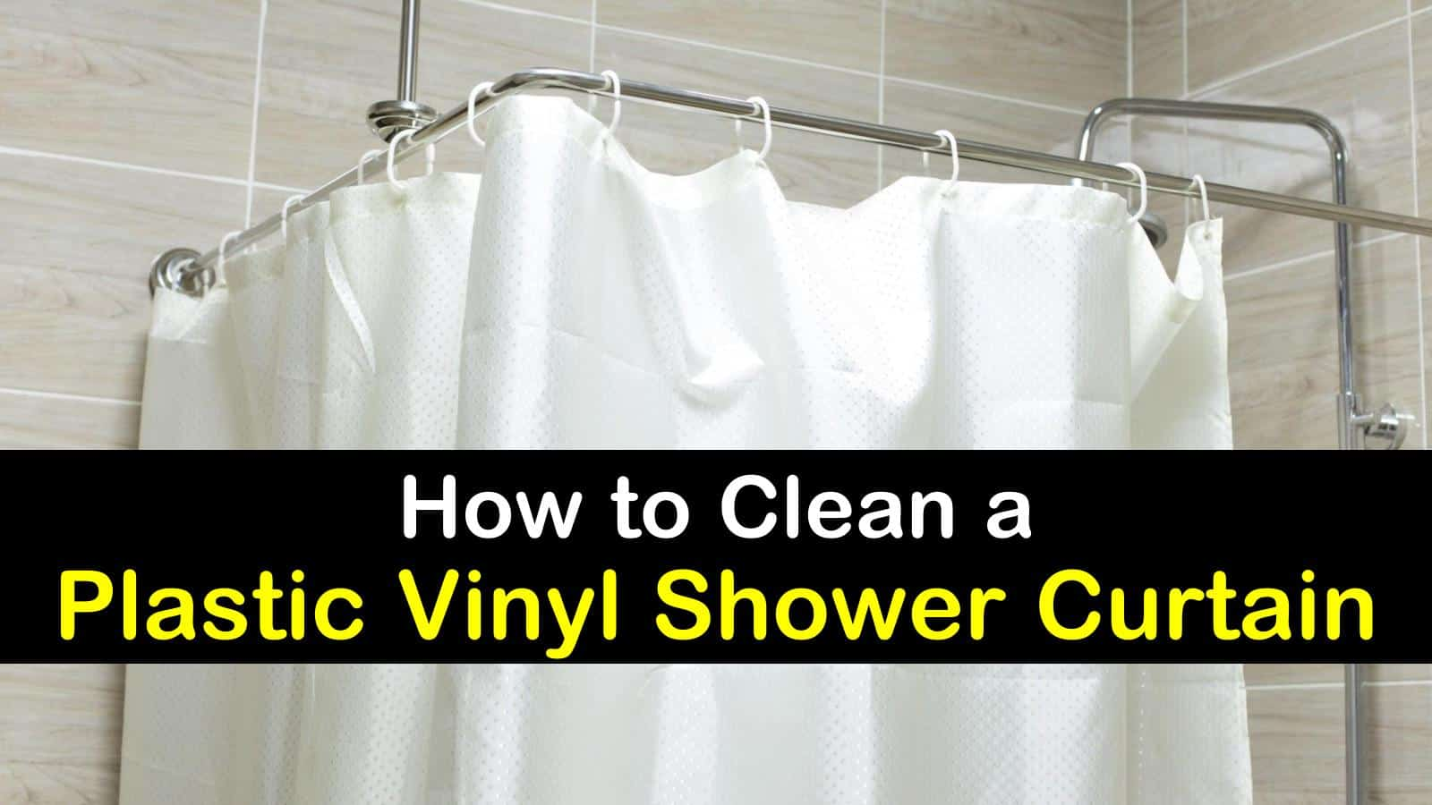 5 excellent ways to clean a shower curtain