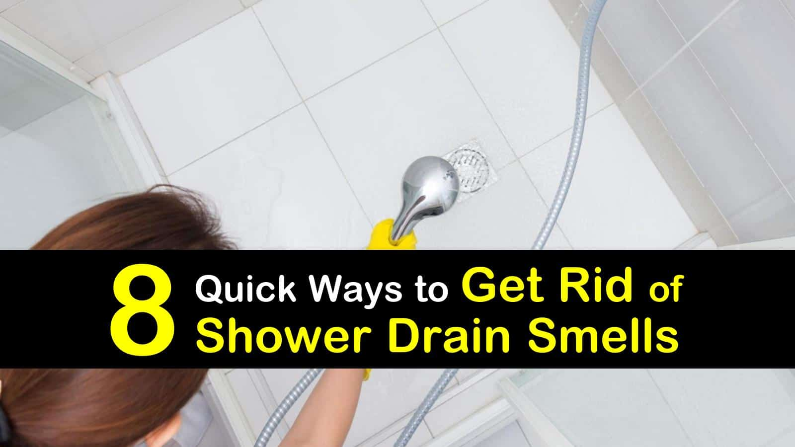 get rid of shower drain smells