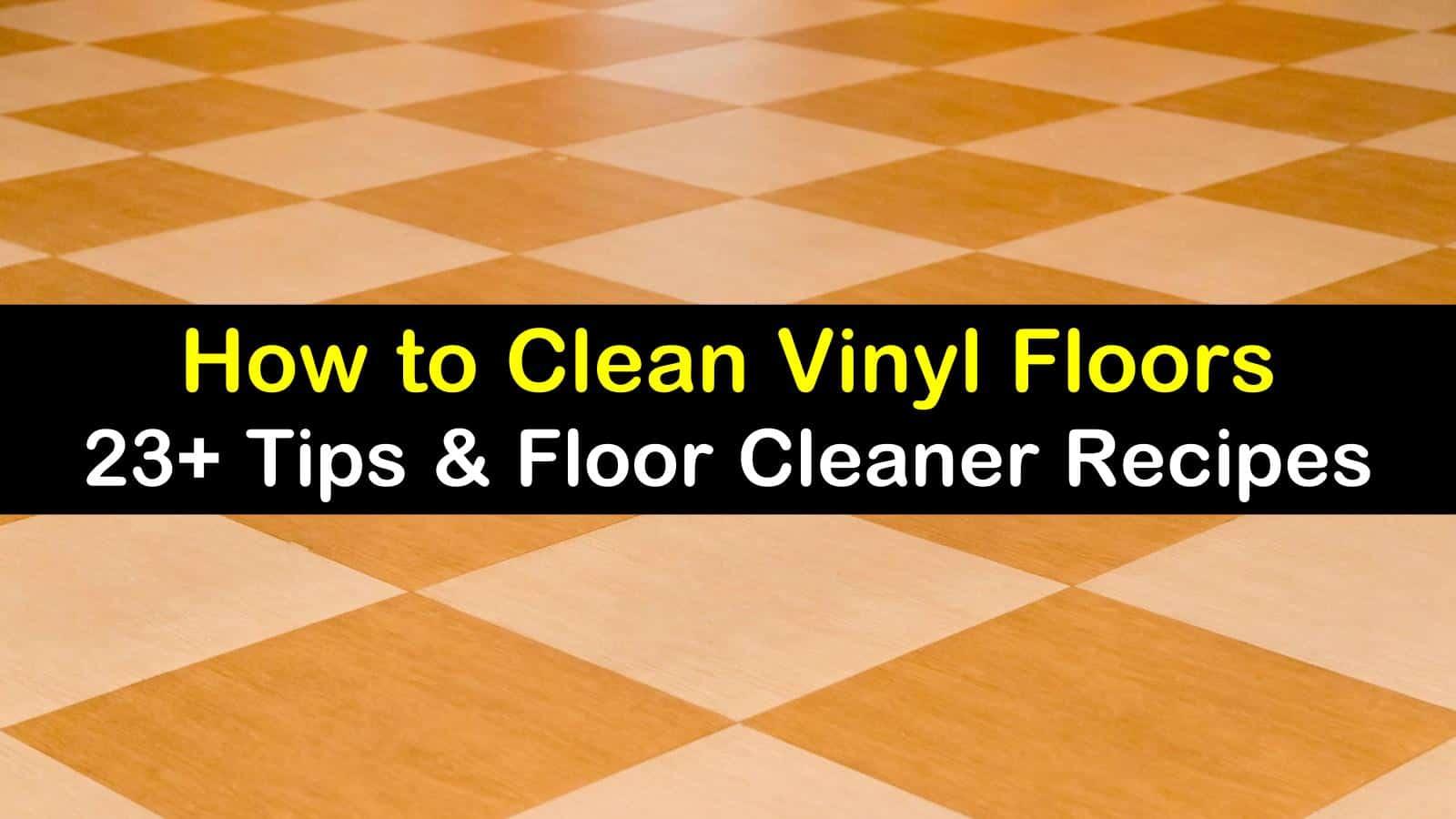 smart simple ways to clean vinyl floors