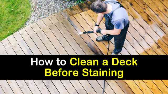22 Handy Ways to Clean a Deck Before Staining It