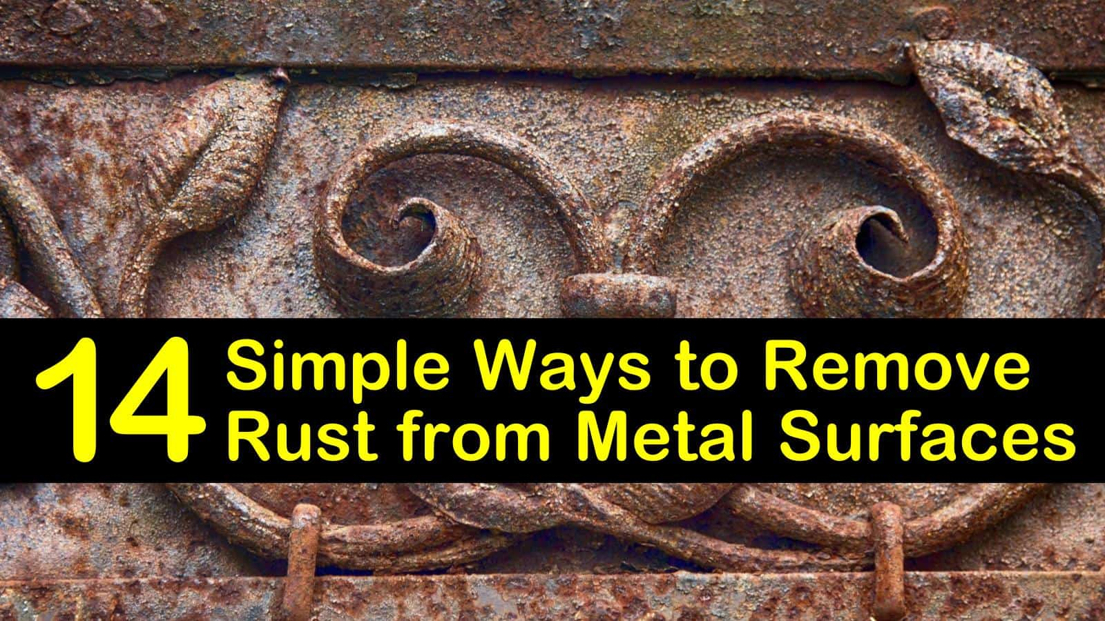 remove rust from metal surfaces