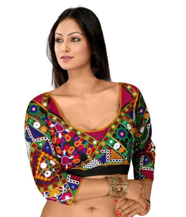Multi colored blouse design