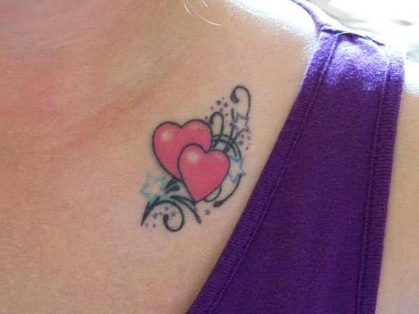 Love heart Tattoos for sisters