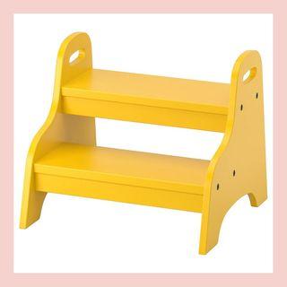 TROGEN step stool for children, yellow, 15 3 / 4x15x13