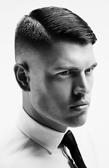 Side Part Style with Fade