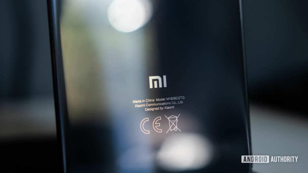 Xiaomi Logo on the back of a smartphone