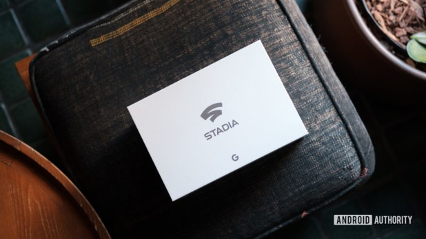 Google Stadia Founders Edition box top down