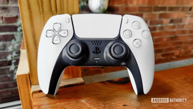 PlayStation 5 DualSense Controller Propped Up