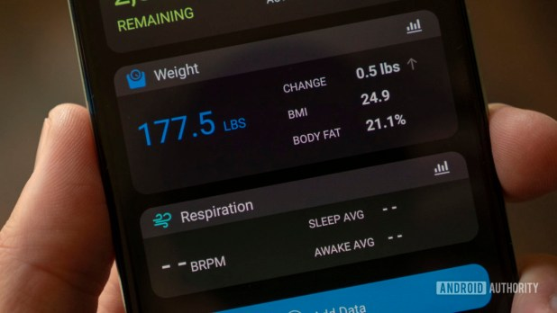 garmin index s2 smart scale review garmin connect weight widget home screen