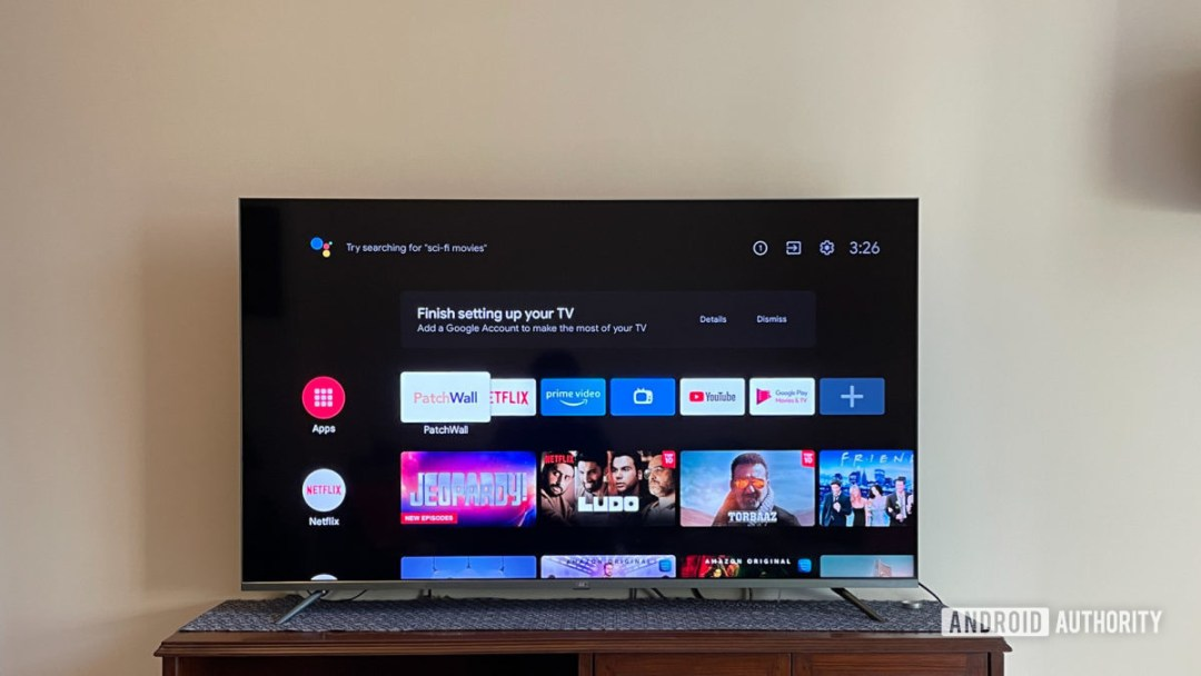 Mi QLED TV 4K with Android TV interface