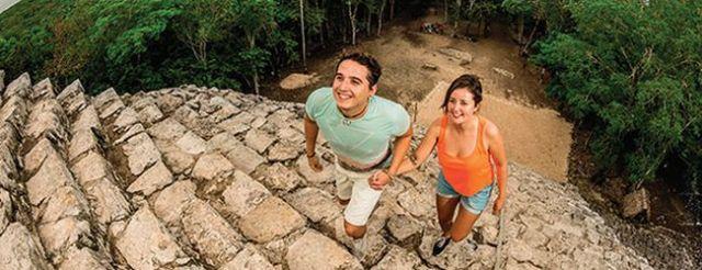 zona arqueologica de coba, lugar turistico de quintana roo, mexico