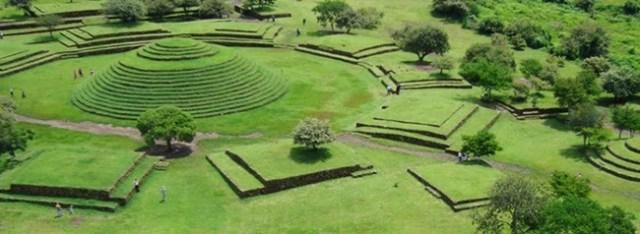 zona arqueologica guachimontes, lugar turistico de guadalajara, mexico