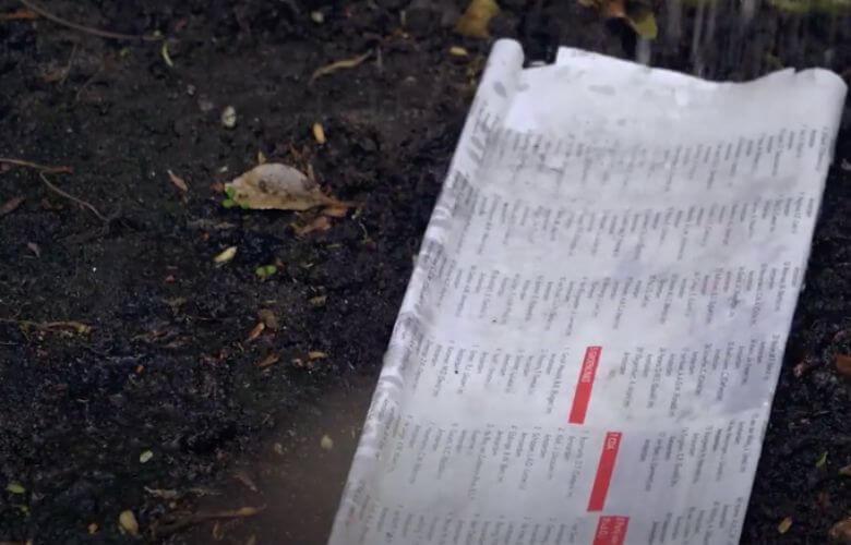 oude krant tuin