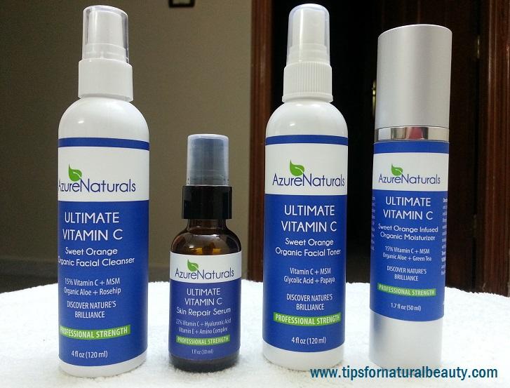 Giveaway: Azure Naturals Vitamin C Kit #Review