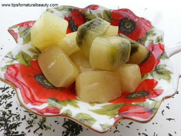 Green Tea ice cubes