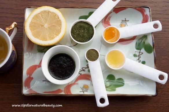 Green tea face mask cover photo recipe
