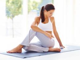 Twisted Seated Yoga Pose