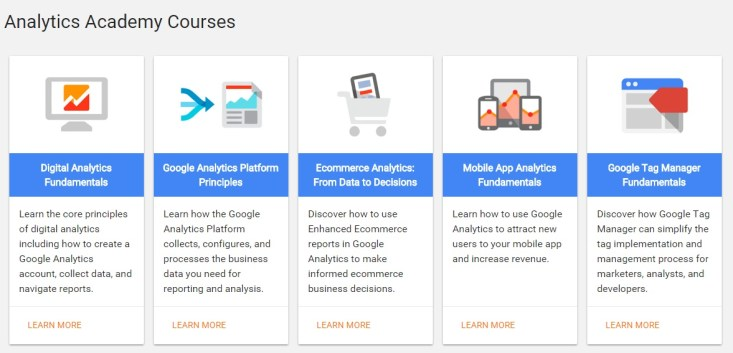 Free Online Learning Sites - Google Analytics