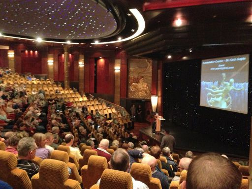 Cunard Queen Mary 2 Insights Program Lecture in Illuminations Theatre