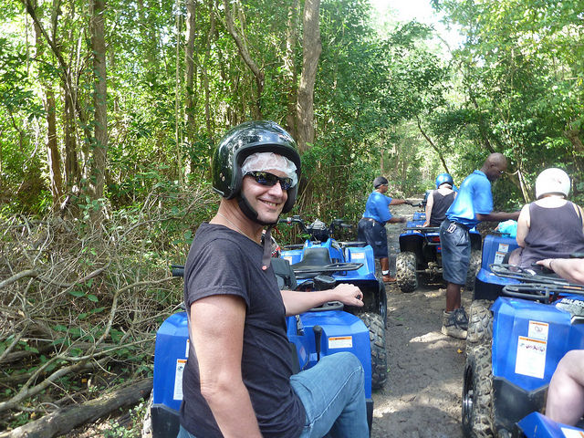Gary Bembridge on ATV Quad Bike Tour St. Lucia