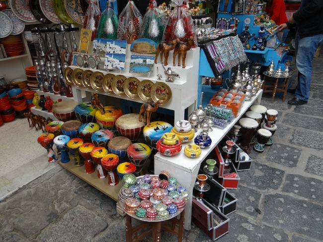 Crafts in Tunis Medina Market Tunisia