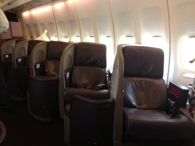 Virgin Upper Class Cabin on 747
