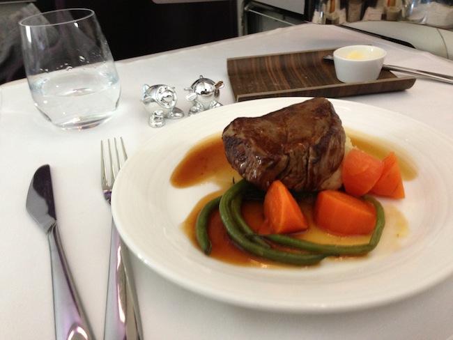 Virgin Upper Class  Beef Fillet Meal