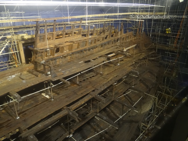Remains of Mary Rose Battleship