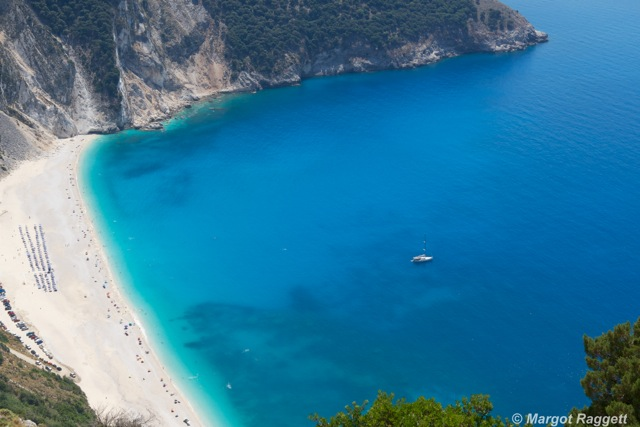Myrtos Beach Kefalonia by Margot Raggett Photography