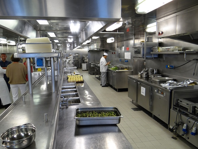 Silversea Silver Whisper Kitchen Galley Hot Section