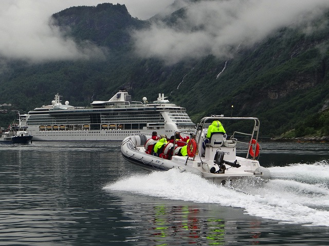 Royal Caribbean Brilliance of the Seas at Geiranger