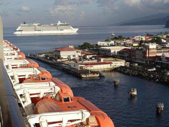 Celebrity Cruises coming into Dominica