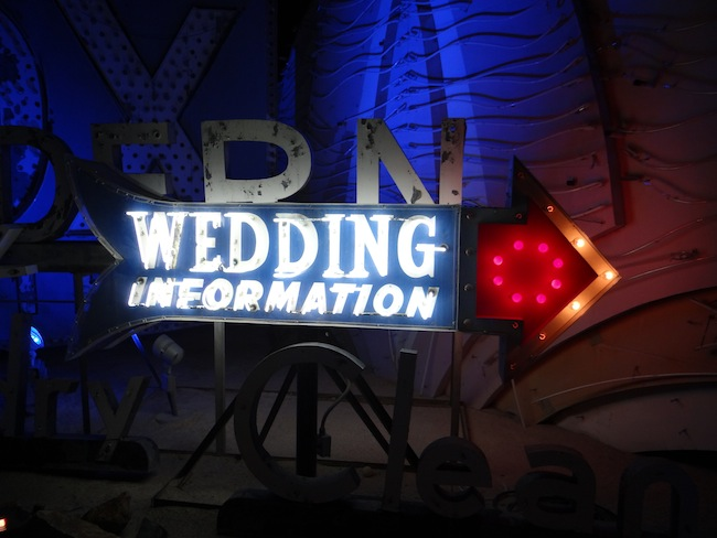 Wedding Chapel sign - Las Vegas Neon Museum