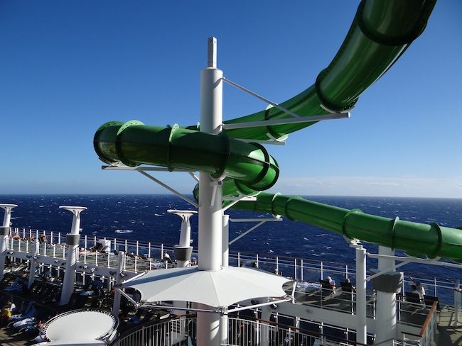 One of the water slides on Norwegian Epic