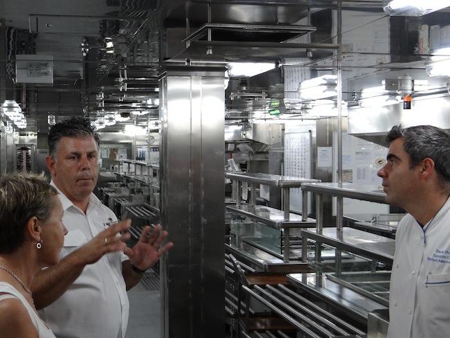 Darren David Lewis (Culinary Operations Manager) and Daniel Hrgic (Executive Chef) Holland America Nieuw Amsterdam