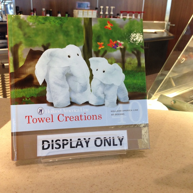 "Holland America's ""Towel Creations"" book"