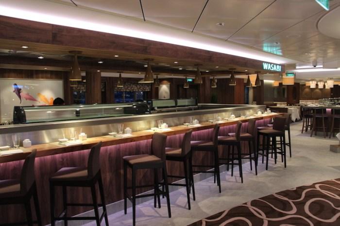 Norwegian Getaway Cruise Ship's Wasabi Sushi Restaurant